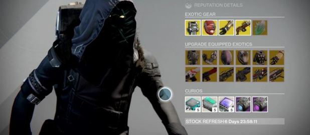 Destiny xur agent of the nine location and exotic items 12 26 14