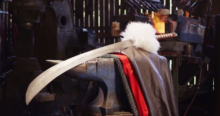 Inuyasha's Tessaiga is forged by Man At Arms blacksmiths