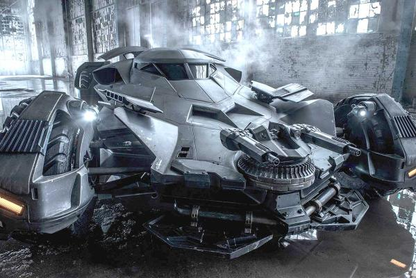 Watch the new Batmobile in action on the set of Batman v Superman ...