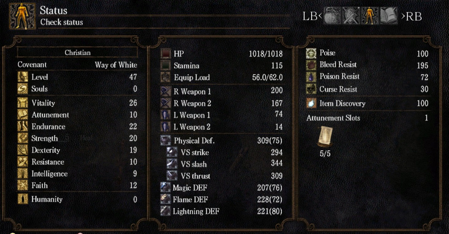 attunement slots dark souls 3