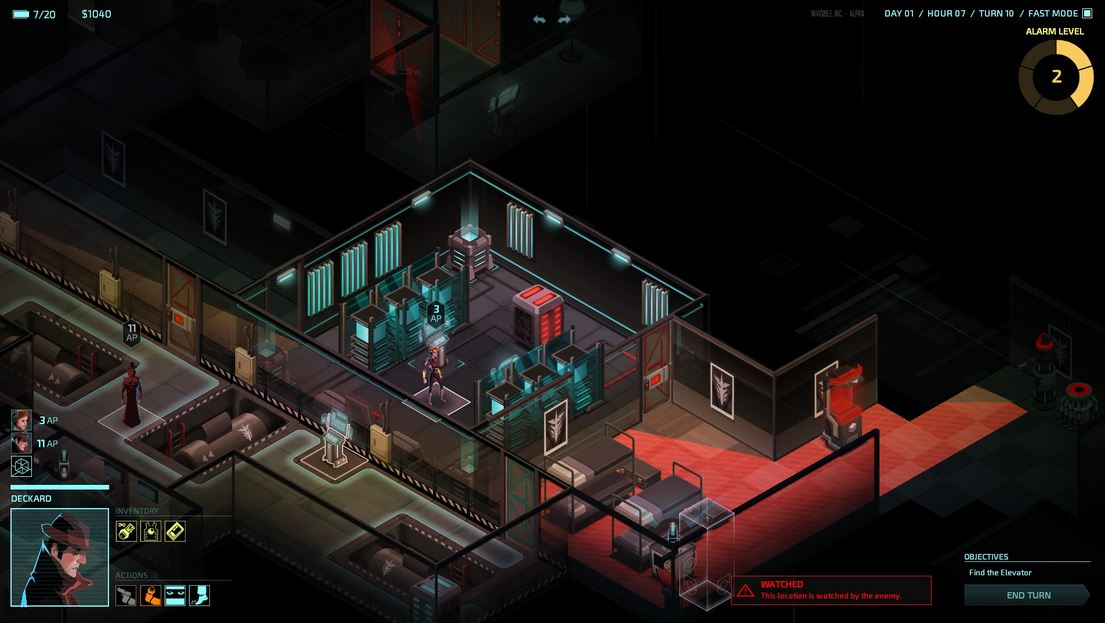 Invisible, Inc. coming to Steam in May