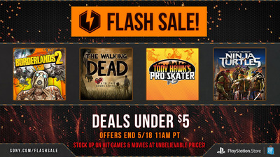 PSN Flash Sale - Deals for Under $5