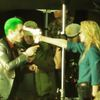 suicide squad harley guinn pointing gun at joker