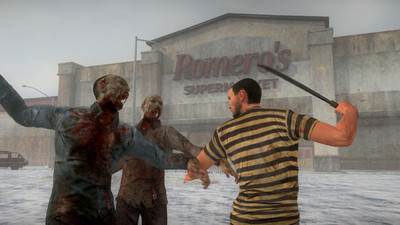 H1Z1 zombies outside Romero's Supermarket