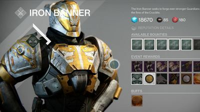 This week's Iron Banner event is the best time to level up Destiny's new gear and guns