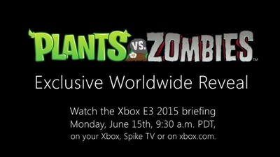 PopCap teases Plants vs Zombies E3 2015 reveal