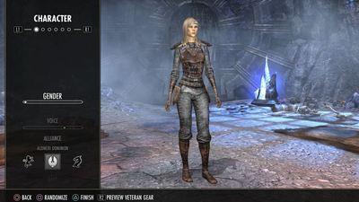 Creating a female High Elf character in Elder Scrolls Online on PS4