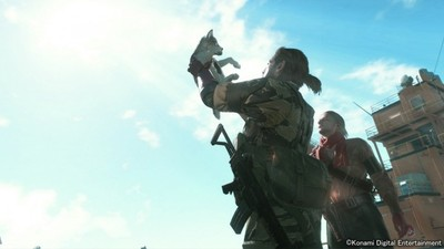 Snake can steal puppies in Metal Gear Solid 5: The Phantom Pain
