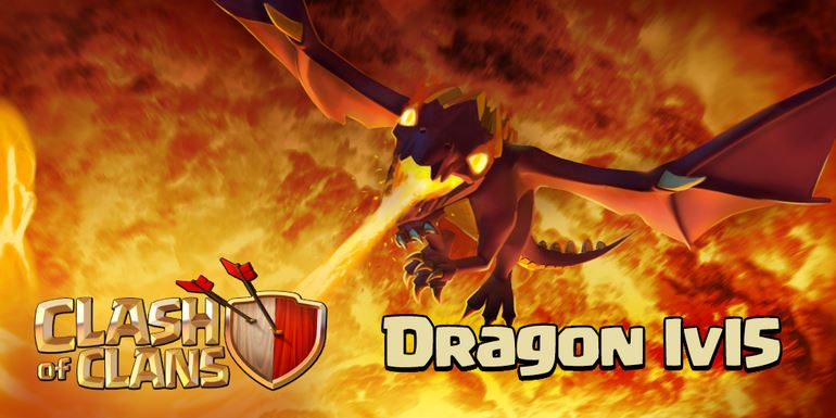 clash of clans level 5 dragon attacks military
