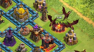 Check out Clash of Clans' new Level 5 dragon in action