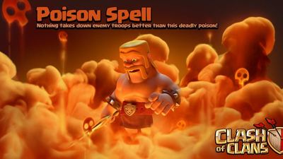 Clash of Clans update Sneak Peek #3: Dark Spell Factory and Poison Spell