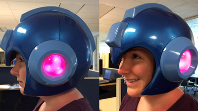 Capcom has finally made an official, wearable Mega Man helmet