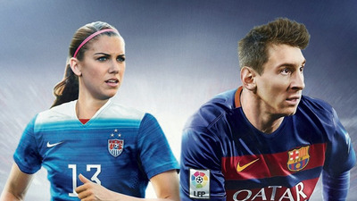 Alex Morgan joins Lionel Messi on cover of FIFA 16