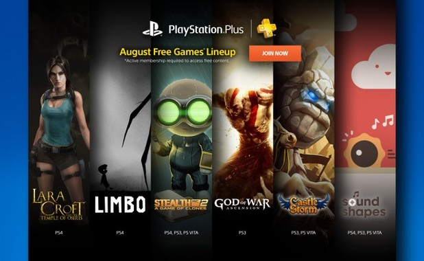 August 2015's PS Plus games announced for PS4, PS3, and Vita
