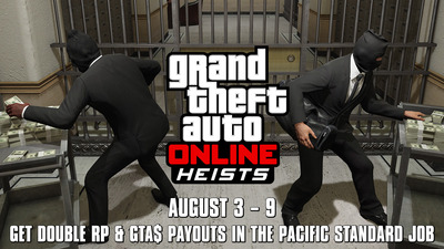 GTA Online's Double GTA$ and RP ends with The Pacific Standard Job