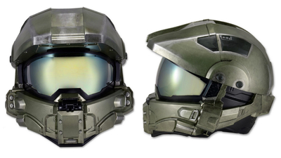 NECA's official Halo motorcycle helmet actually looks pretty snazzy