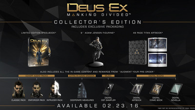Deus Ex: Mankind Divided Collector's Edition details and hefty price tag revealed