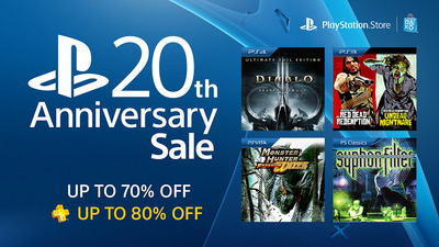 PlayStation 20th Anniversary sale discounts over 100 games