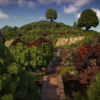 The Shire from Lord of the Rings recreated in Minecraft