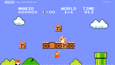 Google and Microsoft celebrate Super Mario Bros anniversary with Easter Eggs