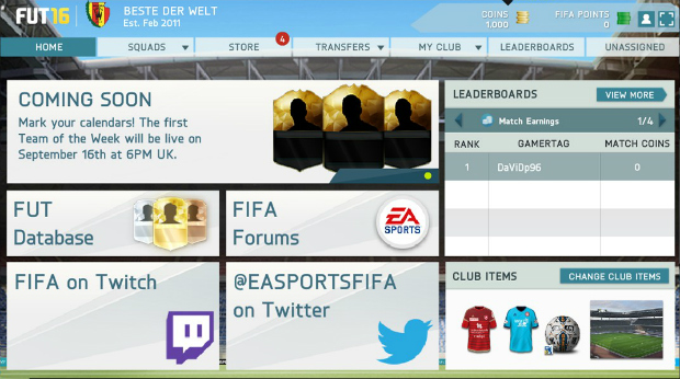 FIFA 16 Web App goes live early