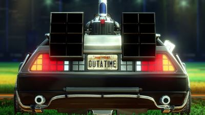 Rocket League goes Back to the Future with the DeLorean