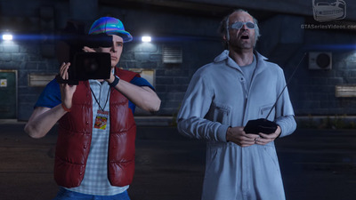 Whoa, Back to the Future recreated in GTA 5 is heavy