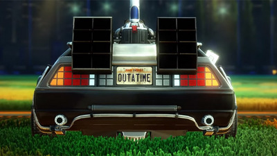 Rocket League 'Back to the Future' Car Pack now available