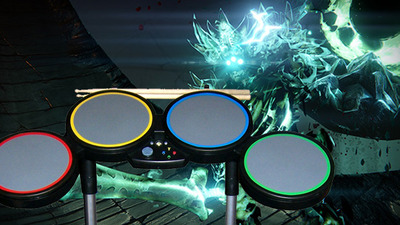 Wow! Someone just solo'd Crota in Destiny using only Rock Band drums