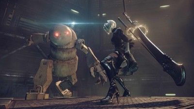 First look at Nier: Automata's gameplay reveals fast and explosive action