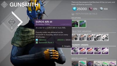 Destiny Week 9 Armsday reset (11/4/15): Here are this week's weapons & bounties
