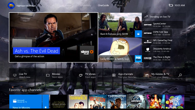 Take a look at OneGuide with the New Xbox One Experience