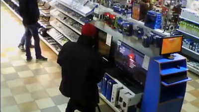 Man caught jerking it to a PS4 in the middle of the store