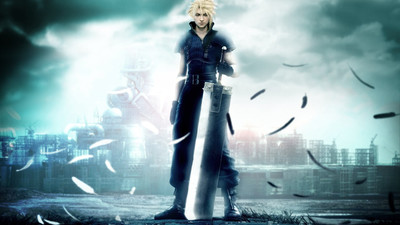 Final Fantasy VII's Cloud landing on Super Smash Bros.