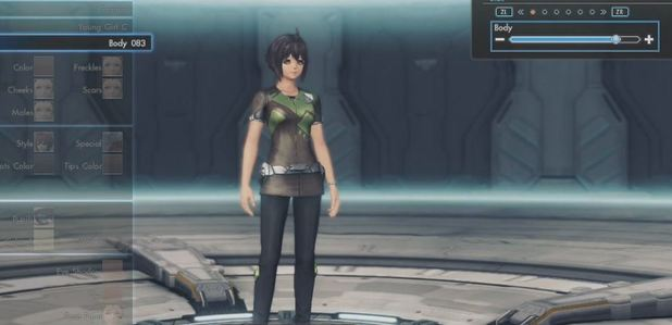 The breast slider in Xenoblade Chronicles X has been removed for US release
