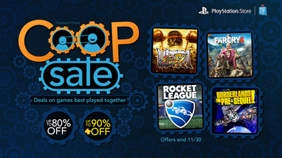PlayStation Store discounts a bunch of co-op games in time for Thanksgiving