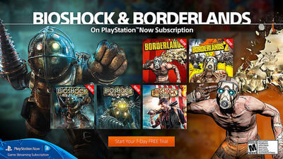 Borderlands, BioShock games added to PS Now subscription