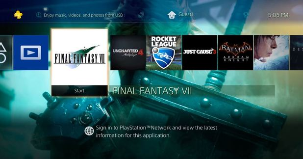 The coolest FF7 theme on PS4 will only cost you $10.87, includes the game for free