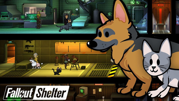 New Fallout Shelter update adds pets, winter wonderland