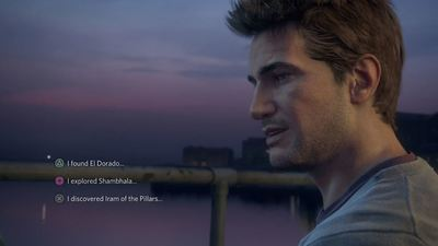 Uncharted 4 branching dialogue options limited to 'a few spots' in the game