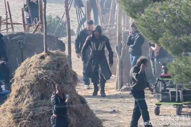 Leaked Assassin's Creed set photos show Michael Fassbender in costume