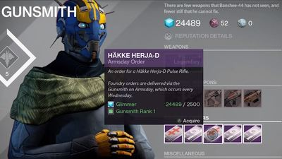 Destiny Armsday reset (12/16/15): Here are this week's weapons & bounties