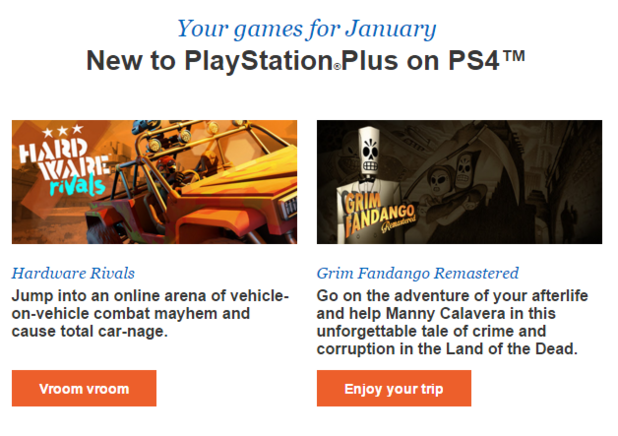 Januar's PS Plus games for PS4 reportedly revealed