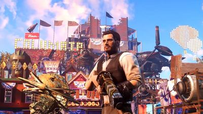 Player creates insanely detailed BioShock Infinite's Columbia in Fallout 4 settlement