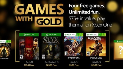 February 2016's Games with Gold for Xbox One and Xbox 360 revealed