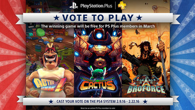 Sony's bringing back 'Vote to Play' for March's PS Plus
