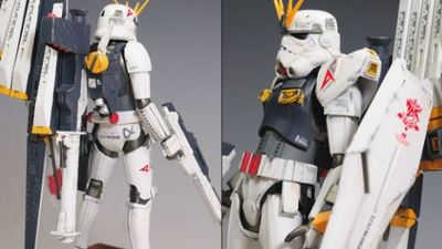 These Gundam-Stormtrooper crossover models are freakin' awesome