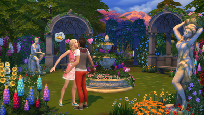 The Sims 4 Romantic Garden Stuff Pack launches just in time for Valentine's Day