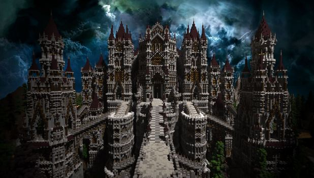 Someone built Dark Souls' Anor Londo in Minecraft and it's awesome