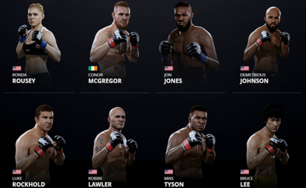 EA Sports full UFC 2 roster revealed
